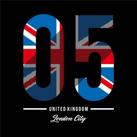 Vector illustration on the theme of athletic in London City, Vintage design. Grunge background. Number sport typography, t-shirt graphics, poster, print, banner, postcard - Vector Illusztráció