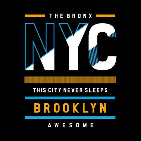 the bronx ny city cool awesome typography tee design vector illustration,element vintage artistic apparel product - Vector Illusztráció
