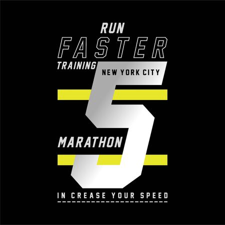 Vector illustration on a theme of run and running in New York City