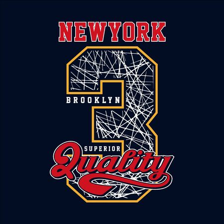 Athletic sport New York,Brooklyn typography for t shirt print and other uses. vector Illusztráció