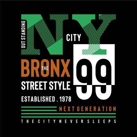 new york city urban t shirt design graphic typography, vector illustration concept art - Vector