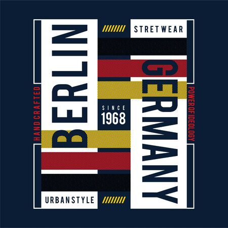 berlin images typography vector illustration for t shirt 일러스트