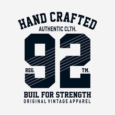 Athletic sport typography, t-shirt graphics, vectors 向量圖像