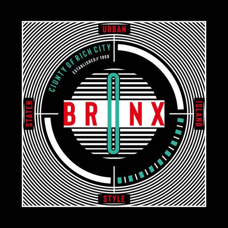 bronx typography design for print t shirt,vector illustration