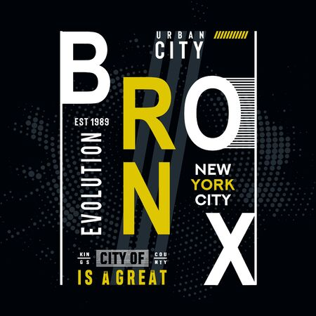 bronx typography design for t-shirt,vectors
