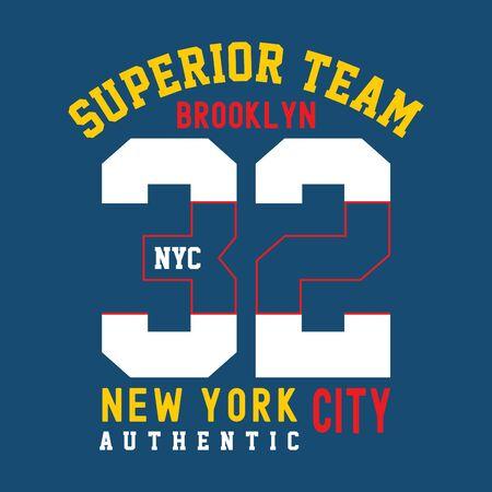 brooklyn east coast,t-shirt print poster vector illustration 向量圖像