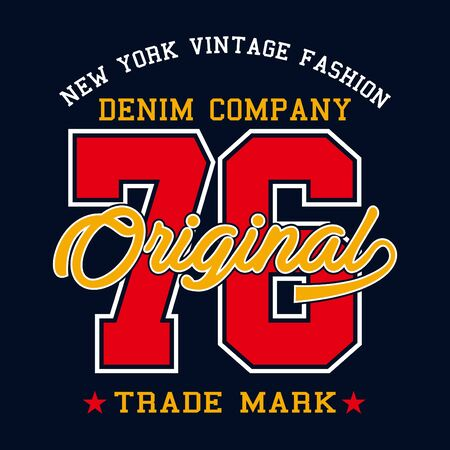 denim company print design for t-shirt and other uses - Vector