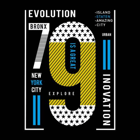 new york city typography tee design vector illustration,element vintage artistic apparel product - Vector