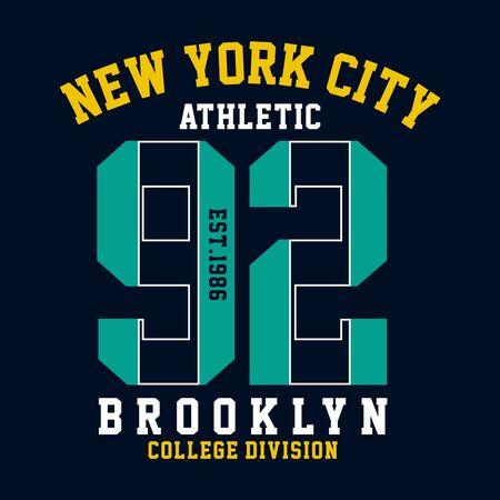 graphic design brooklyn for t shirt print,vector illustration