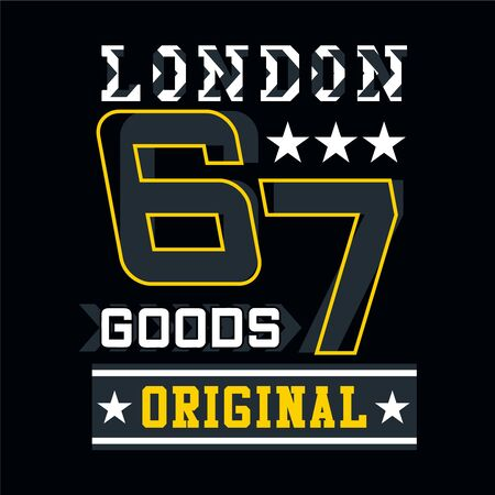 london typography design tee for t shirt print,vector illustration