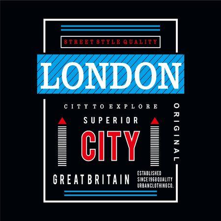 london design graphic typography, vector illustration