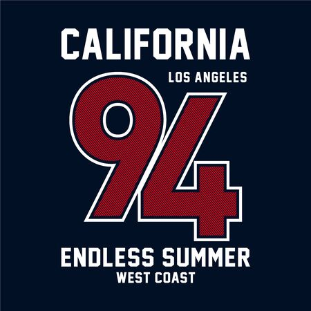 los angeles typography graphic design for t shirt print Illustration
