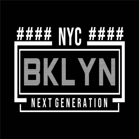 New York  Brooklyn typography design tee for t shirt other uses,vector illustration Vettoriali