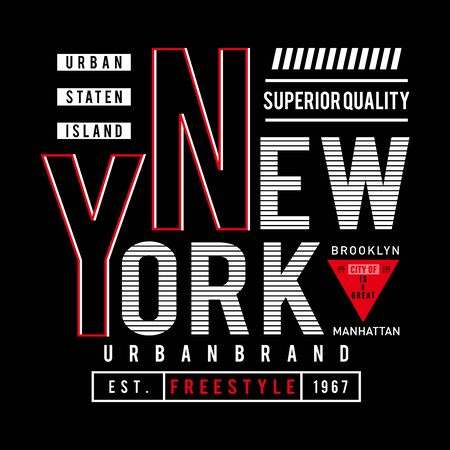 design vector new york typography t shirt design