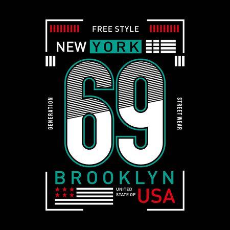 new york typography design for t-shirt, vector illustration