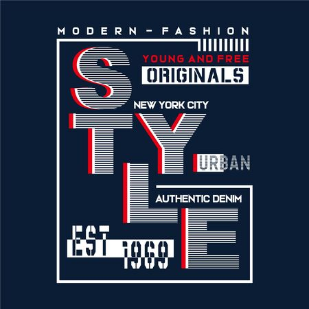 style new york city typography design tee for t shirt,vector illustration