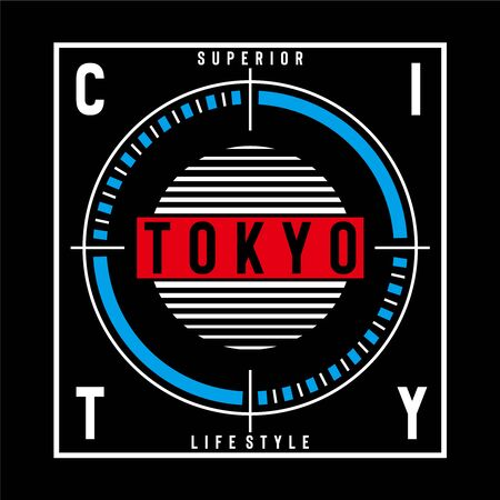 tokyo typography vector illustration for t shirt print