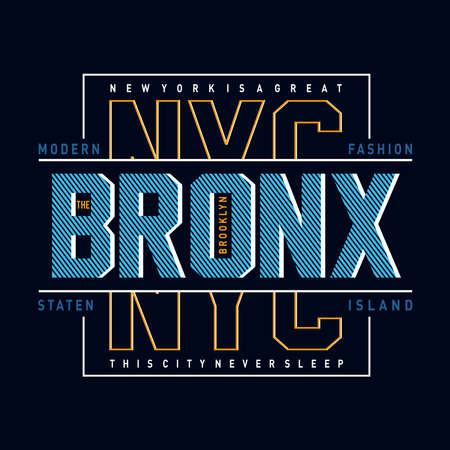new york city  typography design for t shirt,vector illustration