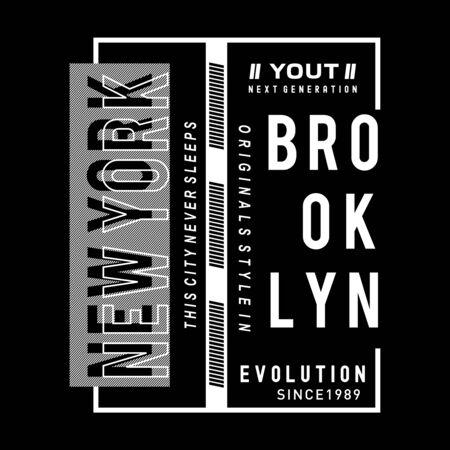 new york city typography t shirt, vector illustration modern printed - Vector