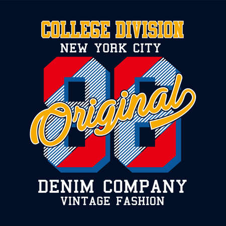 new york city print design for t-shirt vector illustration