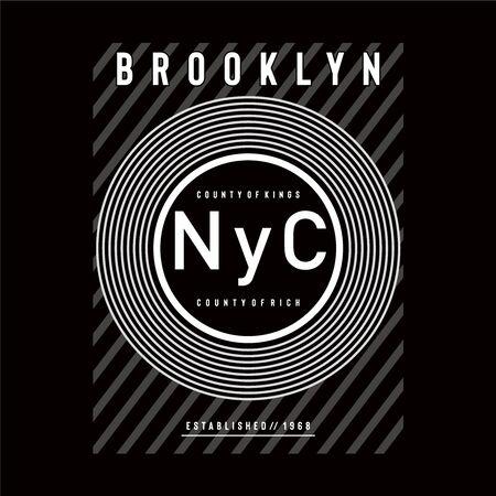 new york city typography design tee for t shirt - Vector illustration