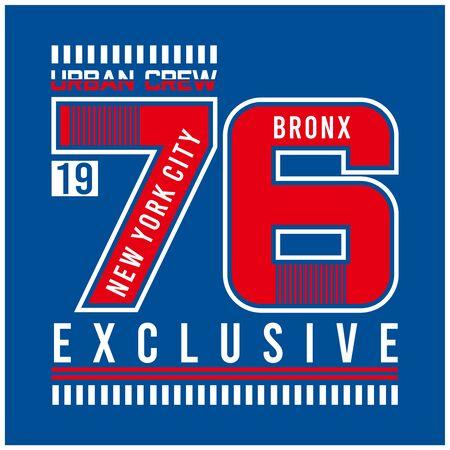 new york city typography for t shirt design vector illustration
