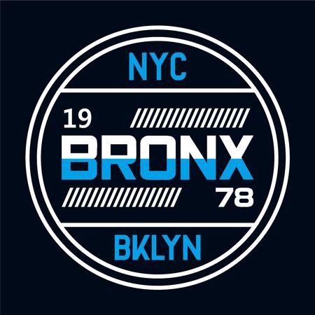 New York City typography, t-shirt graphics, vectors Vettoriali