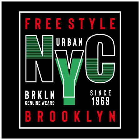new york city typography design , vector ilustration