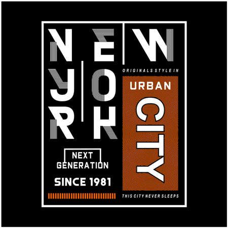 new york typography design for t-shirt,vector illustration