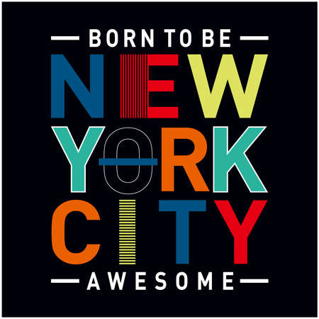 new york city typography for t shirt print