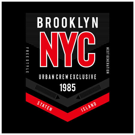 new york city typography for t shirt, Vector illustration