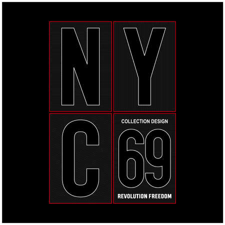 New York City typography for t-shirt, vector illustration