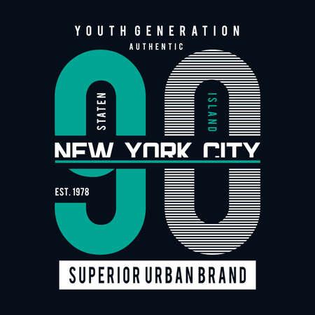 New York city typography graphic art,for t shirt design vector illustration idea