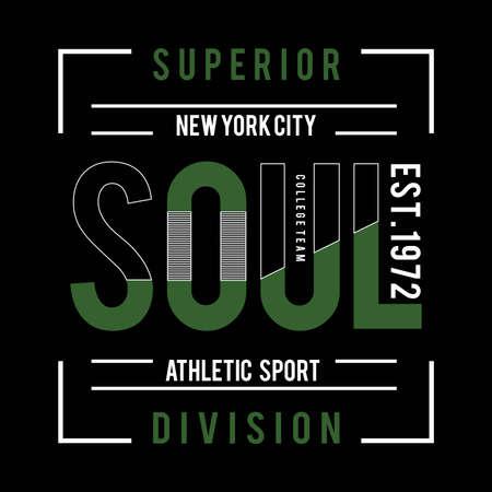 New York city sport typography graphic art,for t shirt design vector illustration idea 向量圖像