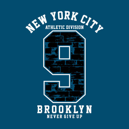 Athletic Division New YorkCity ,Brooklyn typography, t-shirt graphics Ilustrace