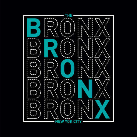the bronx new york city  typography graphics for t-shirt. Print athletic clothes with lettering -BRONX. Line design for sport original apparel. Vector illustration
