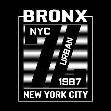 New york city typography tee shirt graphic design, vectors
