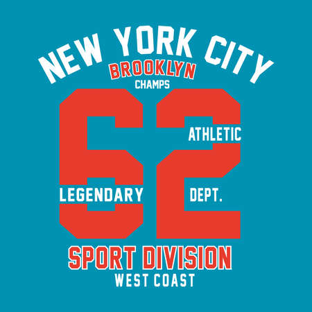 brooklyn champs print design for t-shirt and other uses - Vector