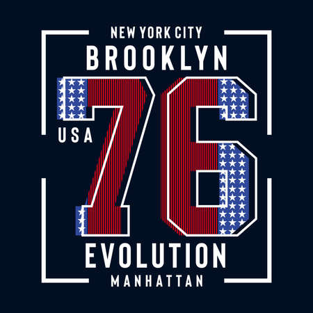 brooklyn typography for t-shirt, vector ilustration