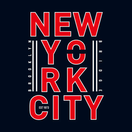 brooklyn typography t-shirt  graphic for t-shirt- Vector illustration Ilustrace