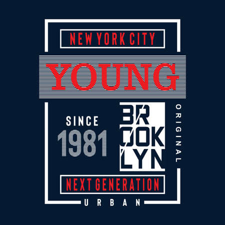 brooklyn typoraphy design tee for t shirt ,vector illustration