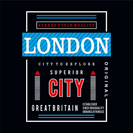 london typography design tee for t shirt print other and uses - vector illustration
