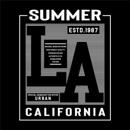 Los Angeles typografhy design tee for t shirt print other and uses,vector illustration Ilustração