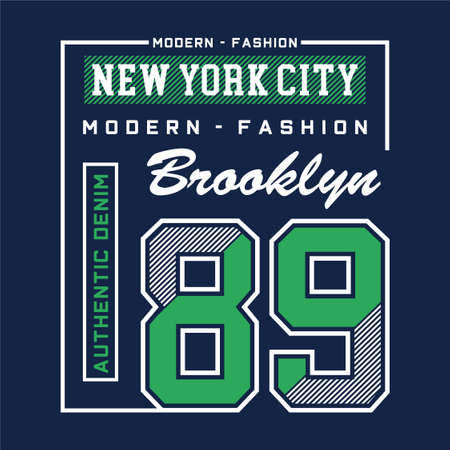 modern fashion brooklyn typography design tee for t shirt print and other uses , vector illustration