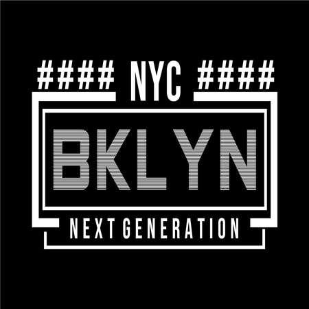 New York  Brooklyn typography design tee for t shirt other uses,vector illustration Ilustração