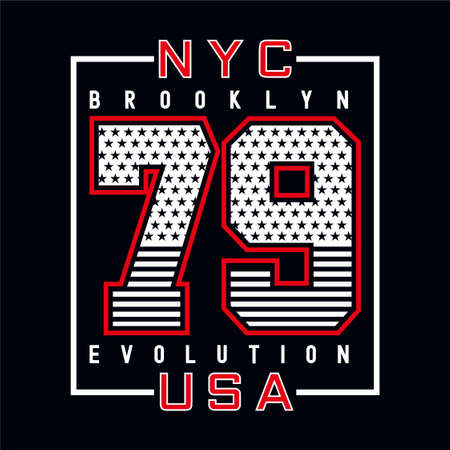new york brooklyn typography design tee for t-shirt and other uses,vector