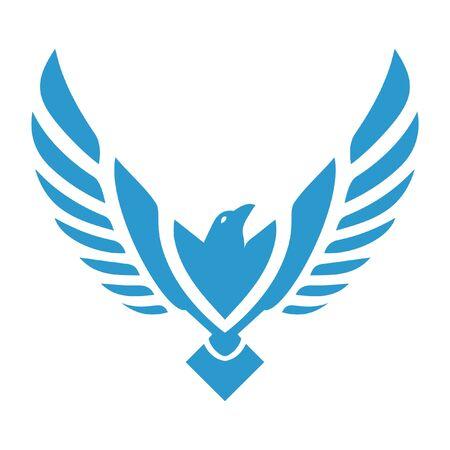 eagle mascot logo icon vector design Vettoriali