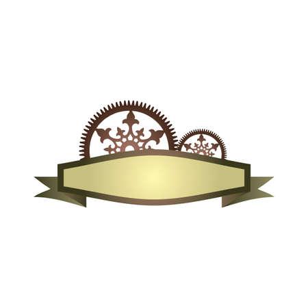 steampunk label design steampunk border frame design use for elegant vector logo graphic steampunk vintage vector label design