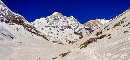 Annapurna South, Annapurna Range, Trek to Annapurna Base Camp, Annapurna Conservation Area, Himalaya, Nepal, Asia