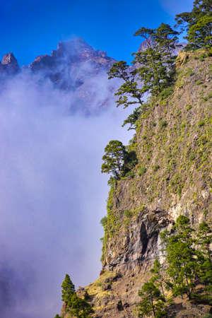 Mountains Landscape, Caldera de Taburiente National Park, Biosphere Reserve, La Palma, Canary Islands, Spain, Europe